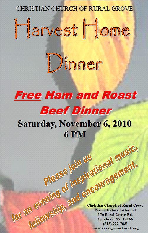 Harvest Home Dinner 11-06-2010
